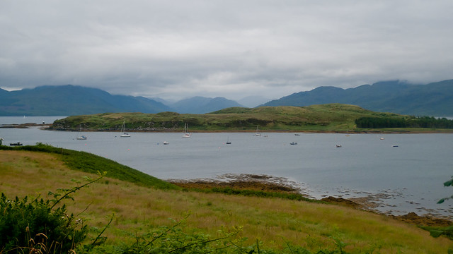 View up the Sound of Sleat from Camuscross