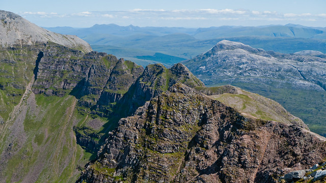 Looking back across the pinnacles of Liathach