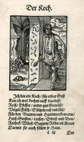 026-El cocinero-Ständebuch 1568-Jost Amman-Hans Sachs
