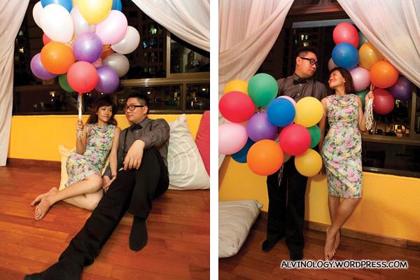 Balloons indoor