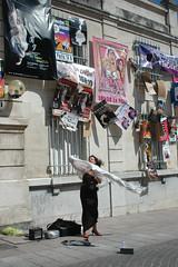 pretty italian woman sings opera in the wind. ...