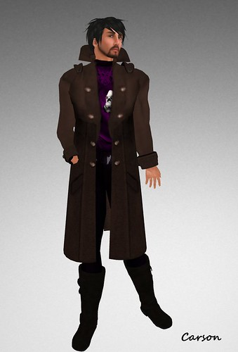 sf design trench coat - brown