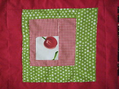 Square from cherry baby quilt
