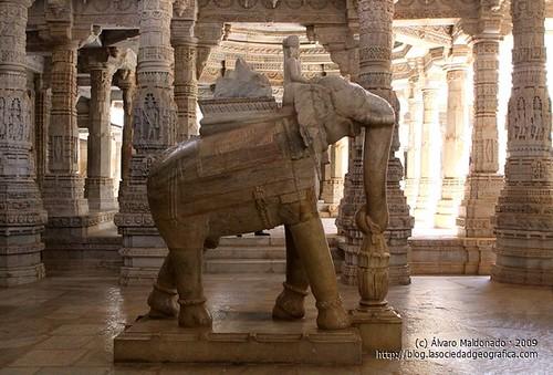 Detalle del templo de Ranakpur