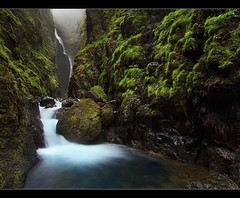 Deep Canyon - Glymur, Iceland by orvaratli