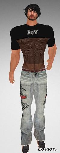 MHOH4 # 161 - PEER Mesh Shirt and Cracked Jeans