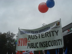 Anti-austerity protest in Brussels on Septembe...
