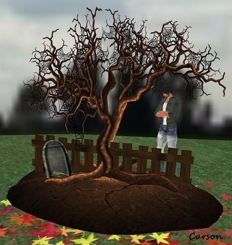 MG Spooky Scene - Spiderweb Tree