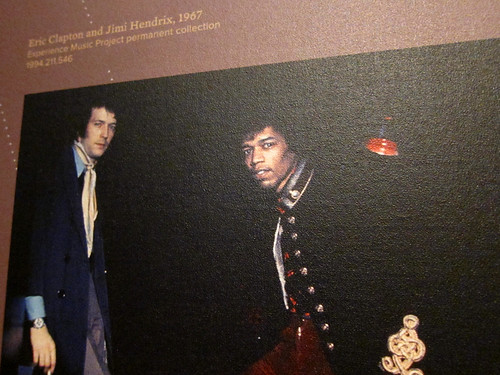 Jimi and Eric Clapton