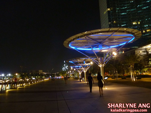Giant Cooling Fans at the Marina Bay Area in Singapore