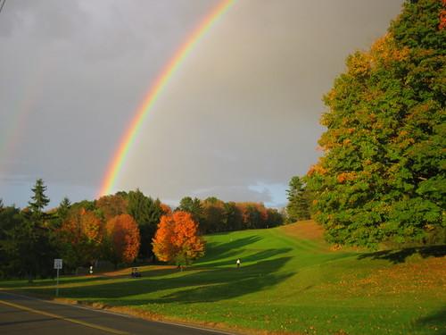 Double autumn rainbow