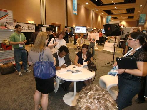 B. Bonin Bough and Stephanie Agresta sign books at BlogWorld 2010