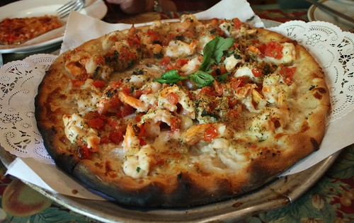 Roseland shrimp pizza