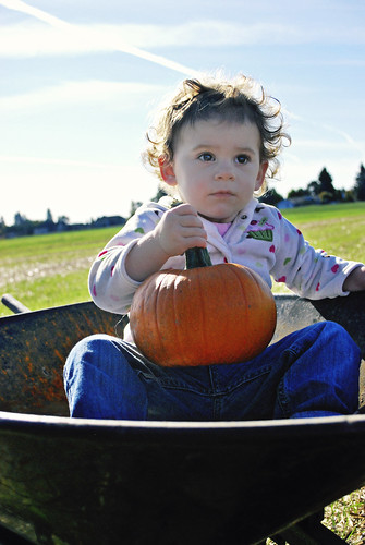 A Girl and her Pumpkin