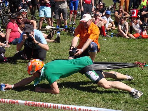 Team-Ireland winning the horizontal bungy.