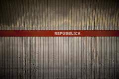 Repubblica Metro Stop, Rome