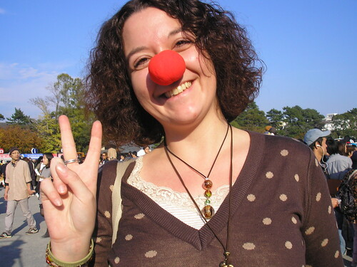 Wearing my Daidogei red nose with pride!