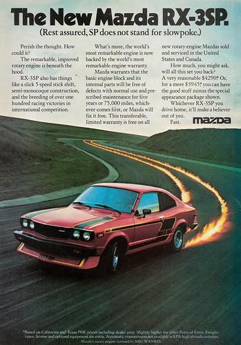 1977 Mazda RX-3 SP Ad