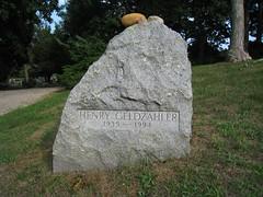 Henry Geldzahler's grave, Green River Cemetery...