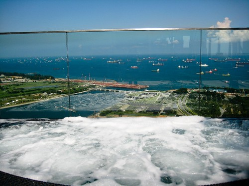 how about a hot tub with a singapore sea view
