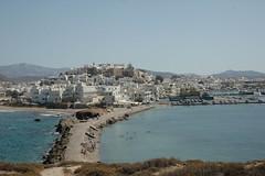Naxos: Chora vom Portara aus