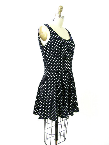 VINTAGE 90's A-LINE POLKA DOT DRESS