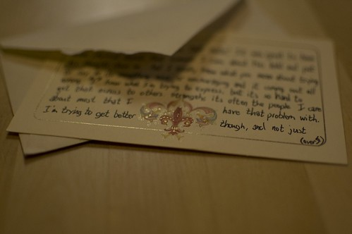 Letter from Caleb (detail)