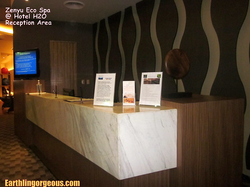 Zenyu Eco Spa reception area