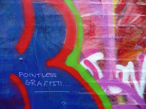 Pointless graffiti