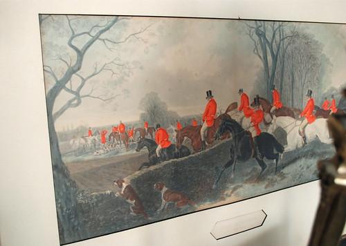 antique Fox Hunting print