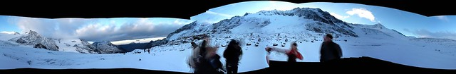 Panorama on the Trift Glacier