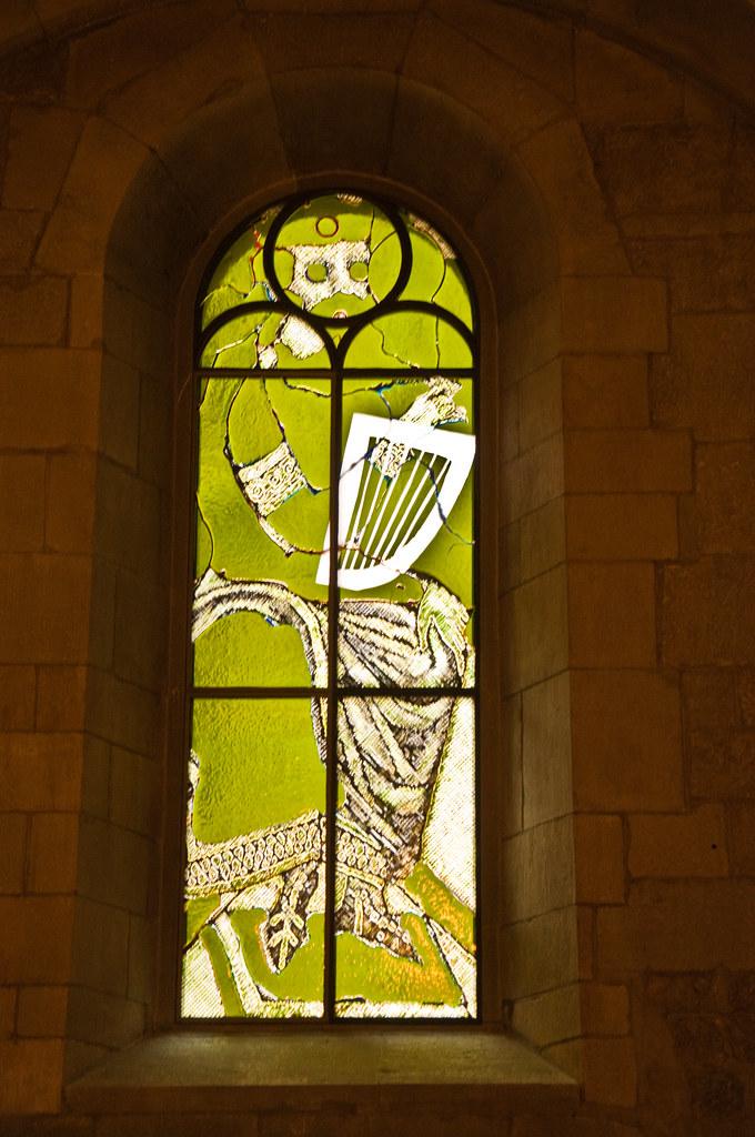 Stained glass window, Grossmunster, Zurich