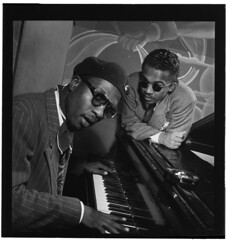 [Portrait of Thelonious Monk and Howard McGhee...