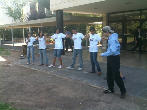 Ted teaches Greek dancing