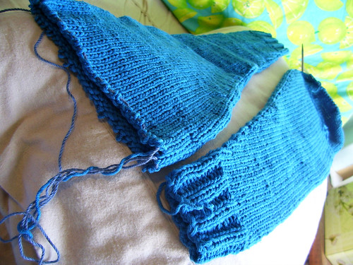 blue sleeves