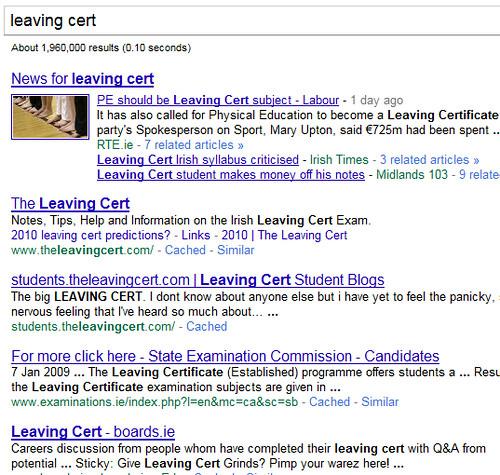 google leaving cert rankings