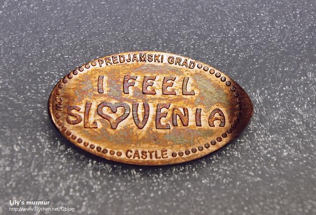 """我轉到了一個帶來好運的""""I FEEL SLOVENIA""""紀念幣!"""
