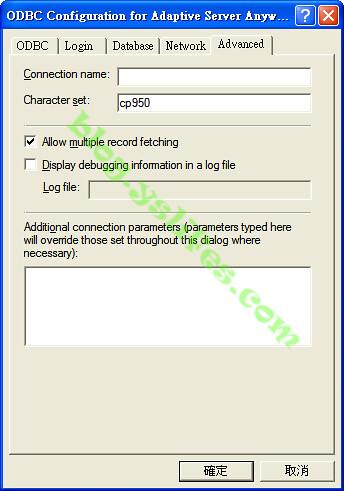 Character set的部份要設cp950,中文語系