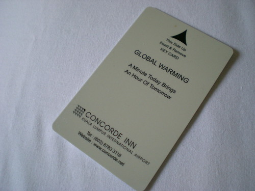 Concorde Inn KLIA - key card