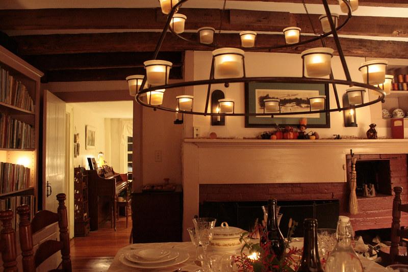 makeshift dining room