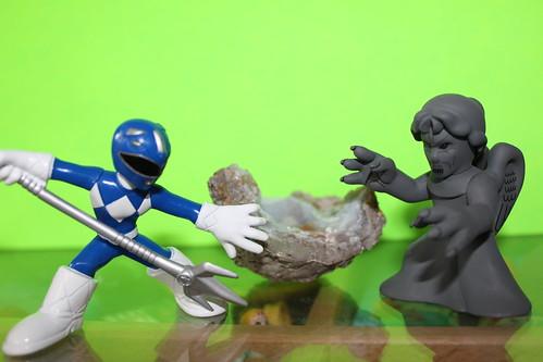 Blue Ranger Vs Weeping Angel
