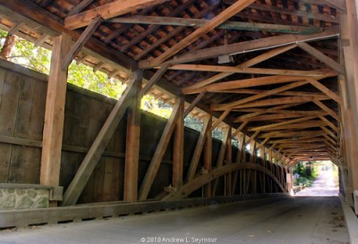 Linton Stevens Covered Bridge (1886) - Interior View (HDR 05)