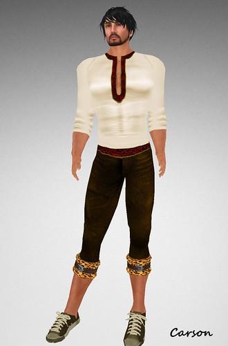 22769 Silk Shirt and Brown Safari Jeans GG