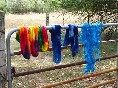 dyed yarns and fibers