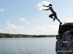 Cliff diving with JT