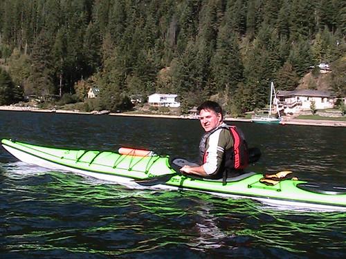 Steve kayaking Nelson, B.C.