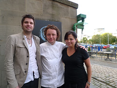 With my brother Greg, Chef Tom Kitchin after a lovely lunch at The Kitchen, Edinburgh