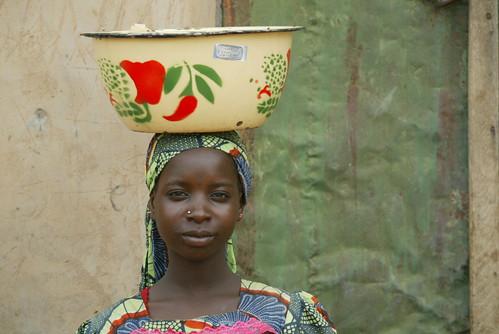 Village food seller in Nigeria