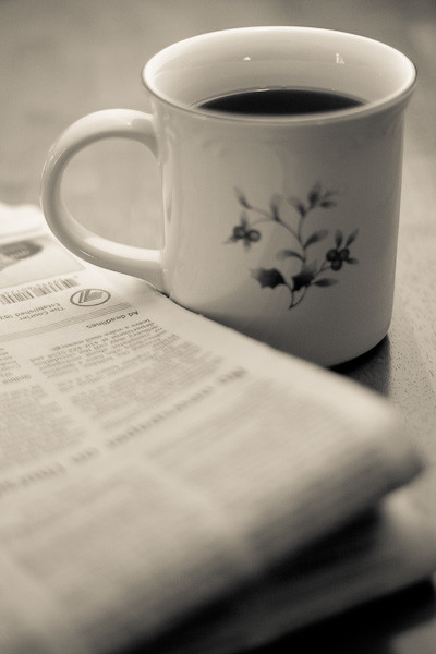 There's comfort in my coffee cup... - Billy Joel, Famous Last Words