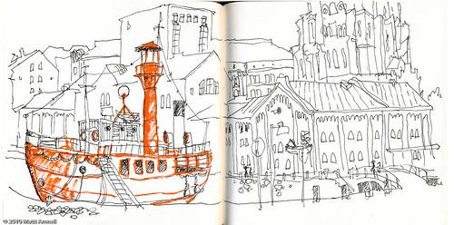 Old fireboat, Helsinki harbour